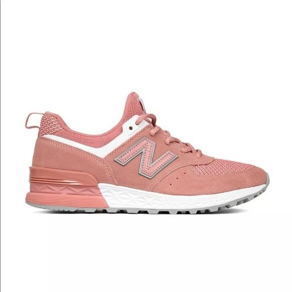 new balance 574 sport peach